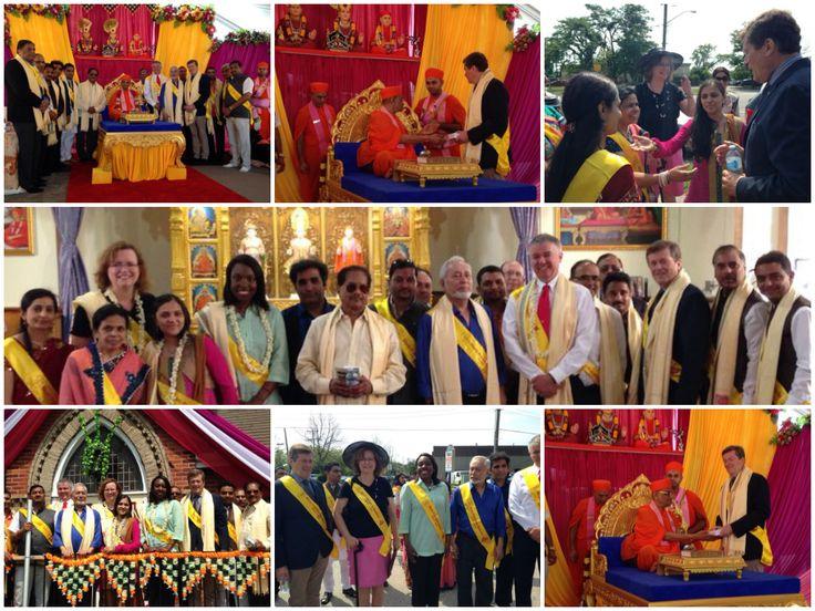 A beautiful ceremony & prayer at the Shri Swaminarayan Temple with friends. /Ward43 #TOPoli