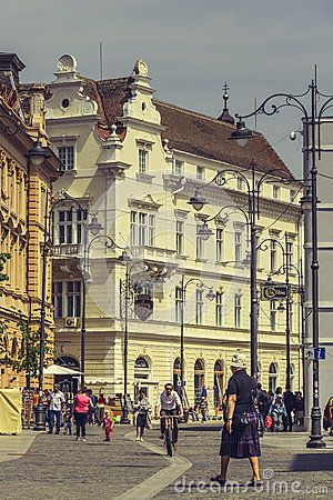 The Great Square, Sibiu, Romania - Download From Over 32 Million High Quality Stock Photos, Images, Vectors. Sign up for FREE today. Image: 54038368