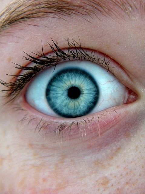Stunning blue eye! I wish I had pretty eyes.