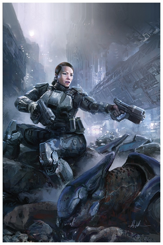 Commander Sarah Palmer.. Brian Reed, the comic writer who
