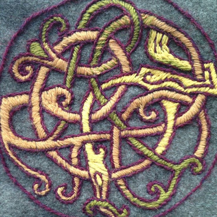 An embroidery on a bag I made for my Viking outfit.