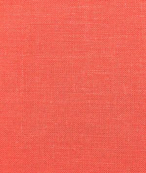 Coral Irish Linen Fabric--possible fabric for window seat with contrasting welt, yaaay!