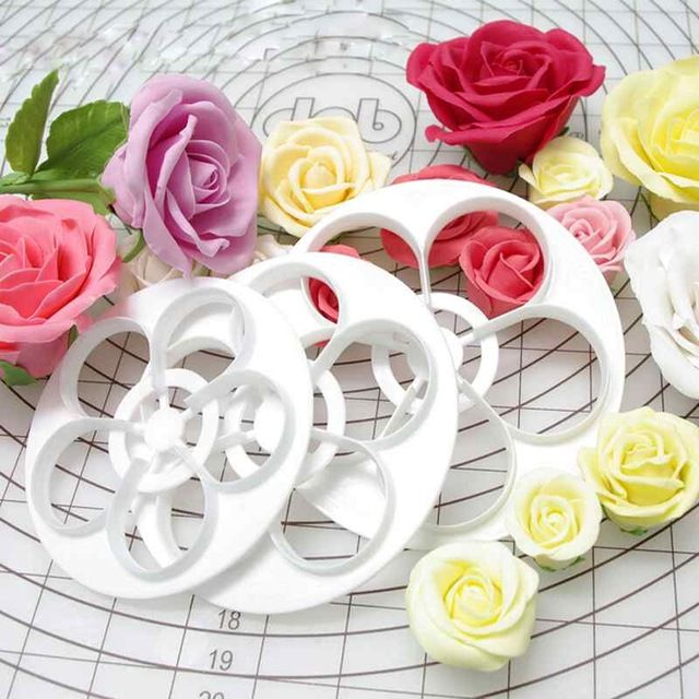 6PCS/SET Rose Shape Cookie Cutter, Free Shipping!