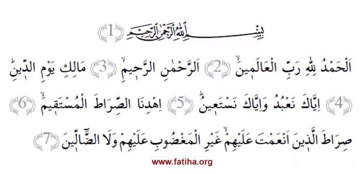 Fatiha Suresi yazımız.