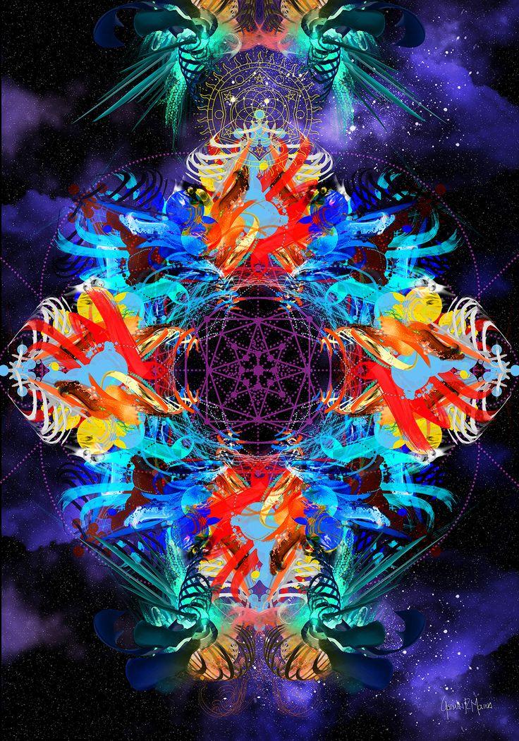 >>Divine Particule<< Arte Digital German Molina - Tamaño 100 x 70 cms - Papel Fotográfico sobre soporte de madera - Disponible