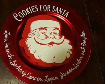 Biscotti per Santa - personalizzati piastra piastra - natale biscotto