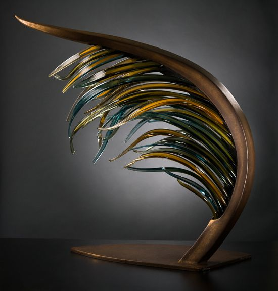 Glass sculpture from the Laminaria series by Shayna Leib