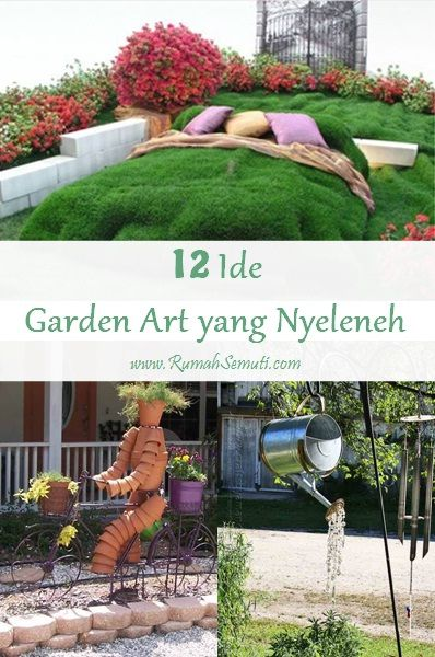 12 Ide Garden Art yang Nyeleneh