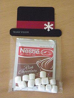 Snowman Hat Hot Chocolate gifty idea