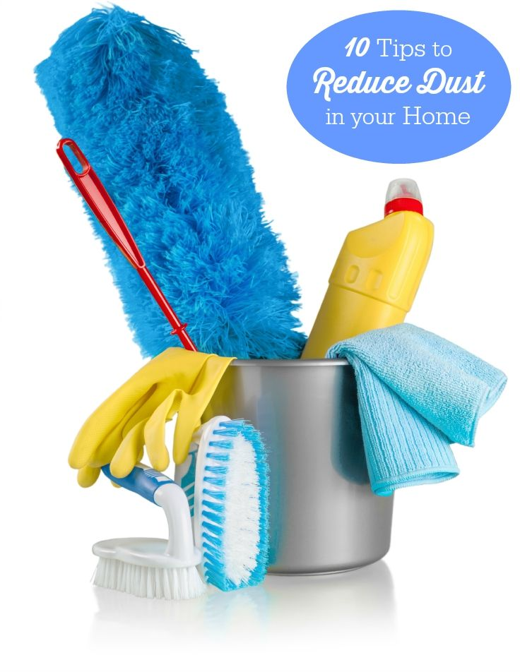 '10 Tips to Reduce Dust in your Home...!' (via Simply Stacie)