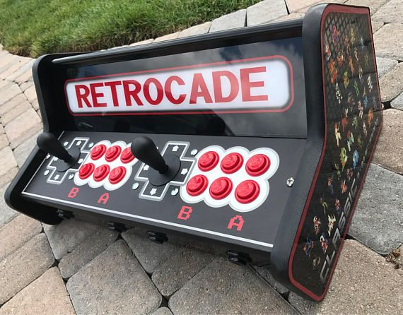 This is your all in one gaming device. No need to only bring some of your retro gaming consoles with you. Bring them all when you have this set up. *** CUSTOM BUILT AS ORDERED*** ( 4 week lead time) Moon Patrol Mobile Control Panel / Tabletop Unit with raspberry Pi3 installed