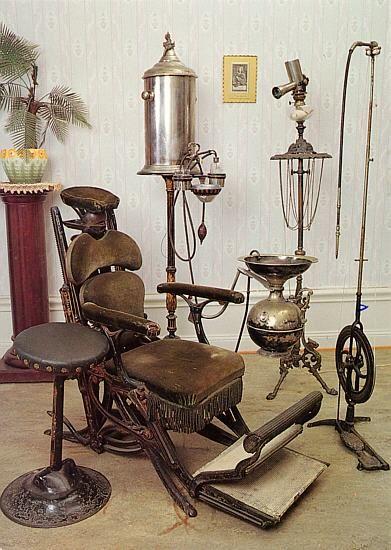 dentist equipment circa1900s