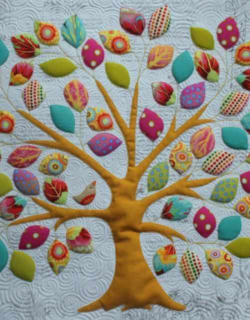 Memory Tree Quilt from KellieX. This would be a great way to use baby clothes or incorporate kids memories in a quilt format.