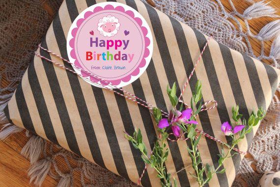 Printable Birthday stickers Printable Gift by OrnaShalhevet