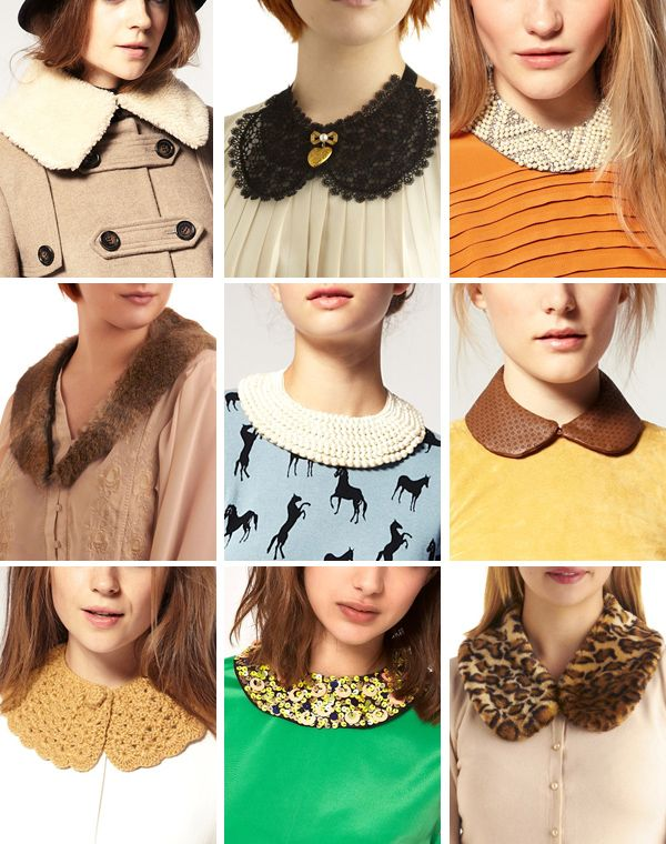 As those who are close to me know now, I have obession with detachable collars. Love all of these!