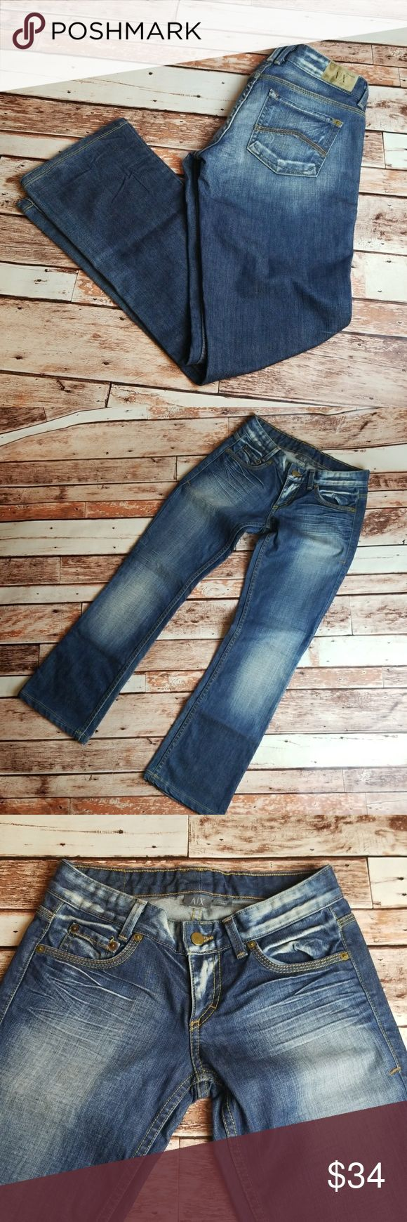 Armani Exchange AX Womens Jeans sz 0 Short In excellent condition AX Jeans Armani Exchange Jeans Boot Cut