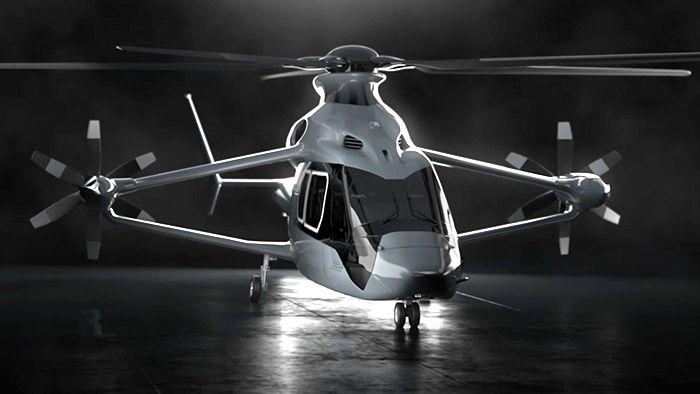 Airbus představil koncept super rychlé helikoptéry Racer