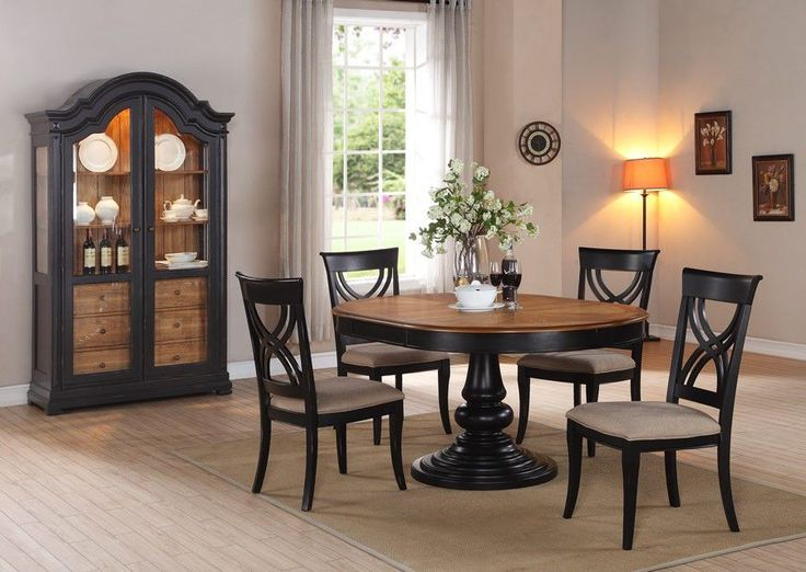 Elegant Emerald Home Brighton Black U0026 Cashew Oval Dining Table   Dining Tables At  Hayneedle Part 30