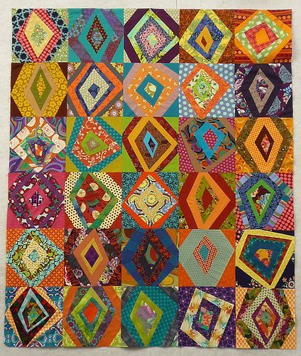 Funky quilt that would be easy to make!