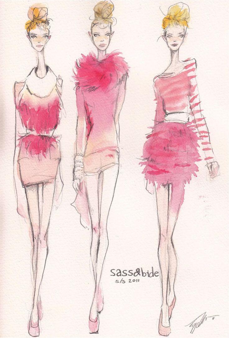 Sass & Bide S/S 11 | Pippa McManus #fashion #illustration