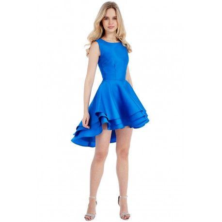 Zjawiskowa kreacja o niezwykle ciekawym fasonie. Asymetryczny, trójwarstwowy dół sukienki sprawia, że model jest jedyny w swoim rodzaju. Idealny na wesele https://stylovesukienki.pl/ #sukienka #moda #kobalt