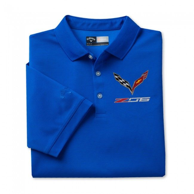 Z06 Textured Polo - Blue  Stay dry with this 100% polyester textured polo. Opti-Dri technology transfers moisture away from the body to keep you cool and dry. Imported.  SKU: CJ2-MP094