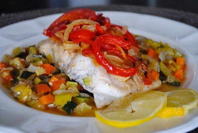 Невыразимая легкость кулинарного бытия...: Рыбное филе, запеченное с овощами