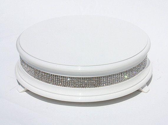 18 inch White Diamond Wedding Cake Stand