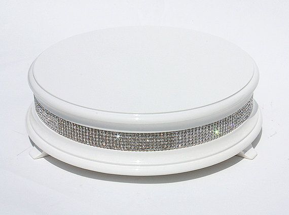 18 inch White Diamond Wedding Cake Stand by WeddingFads on Etsy
