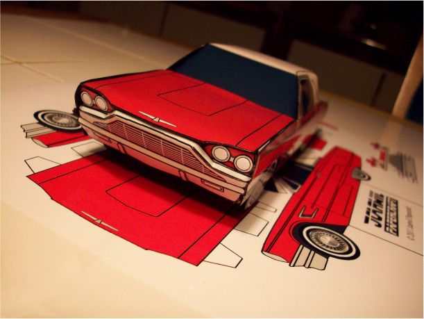 Blog Paper Toy papercraft Ford Thunderbird Jcarwil pic2 Papercraft Ford Thunderbird 1965