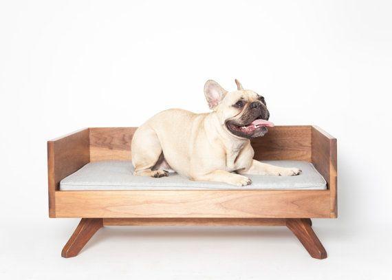 Modern Wood Dog Bed  The Joey High Back Bed by EATSLEEPFETCH