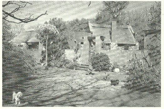 Pierneef's home in Pretoria. Called Elangeni (place of the sun), it was built in the late 30s using stone and thatch from the area.