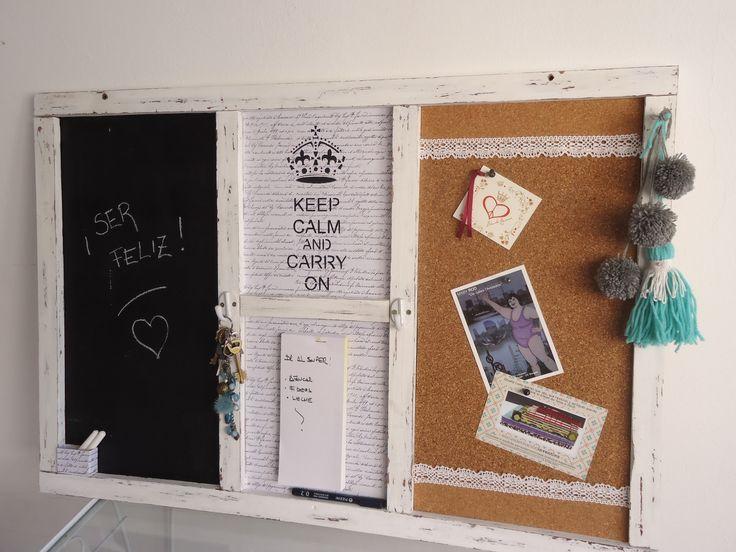 Pizarra de corcho y tiza. Genial para decorar tu oficina.