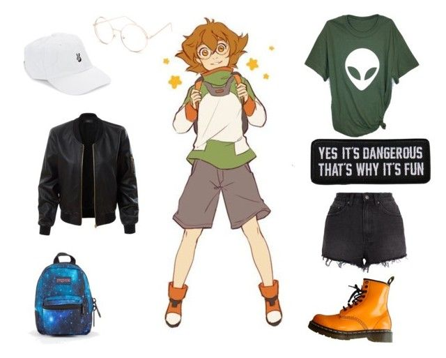 """""""Voltron inspired"""" by isabelle071102 on Polyvore featuring Ksubi, Dr. Martens, Full Tilt, Body Rags, JanSport and LE3NO"""