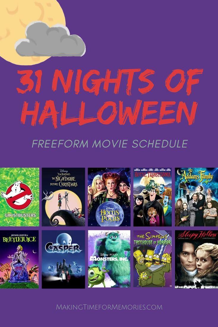 Freeform 31 nights of halloween 2020 movie schedule