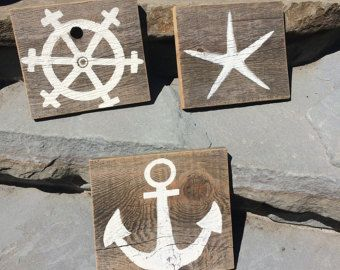 Items similar to SEASIDE Cottage Vintage Beach Signs Home Decoration 1X24 on Etsy