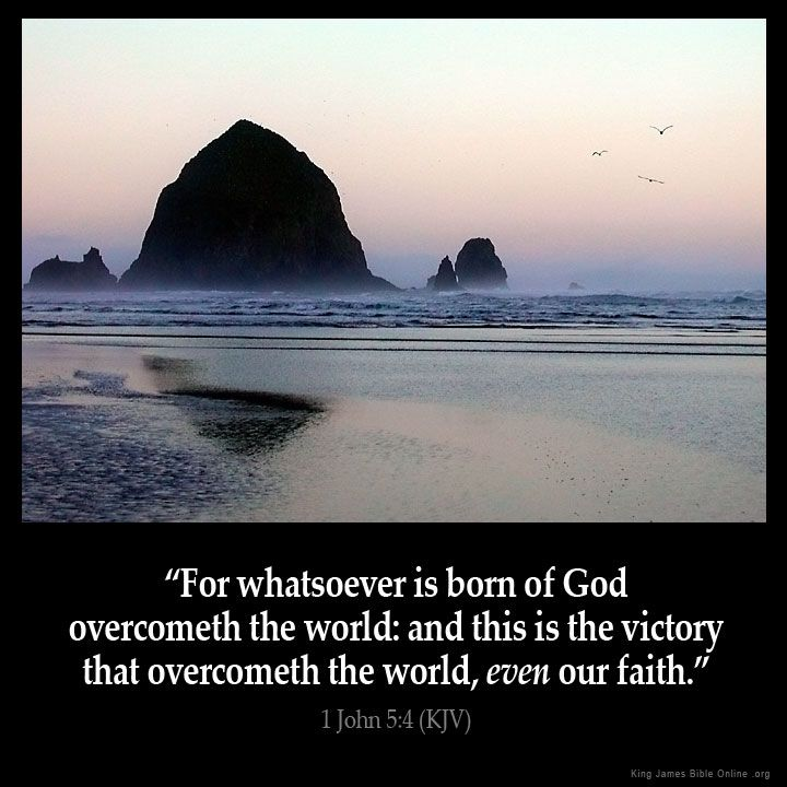 1 John 5:4  For whatsoever is born of God overcometh the world: and this is the…