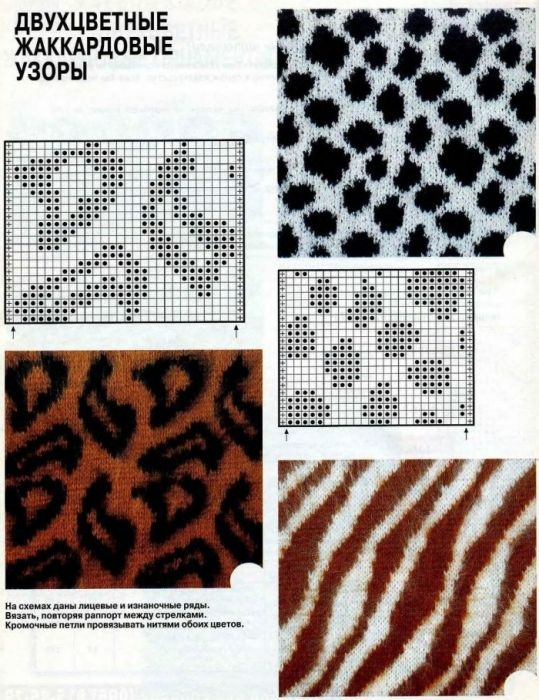 knit animal print patterns
