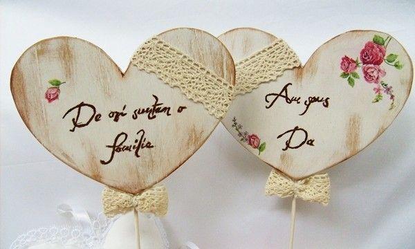 Decoupage hearts pair - inimioare pereche