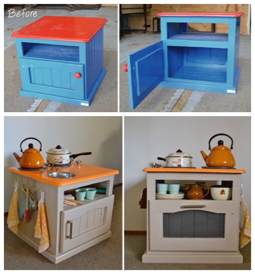 Upcycle:  D-ream-I-Y play kitchen ...
