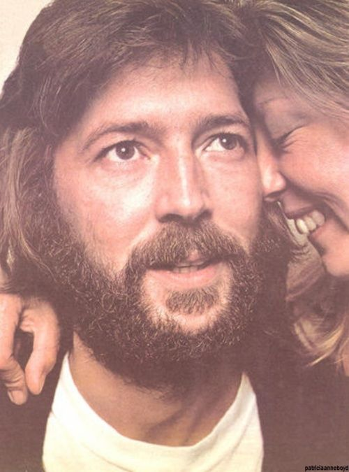 Eric with wife Pattie who he wrote the song 'Layla' for.