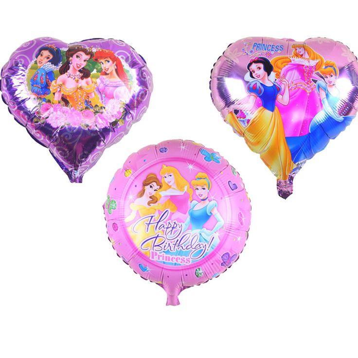 10pcs/lot 18inch Snow white Mermaid cartoon Princess balloon Happy Birthday Party decorations Wedding party favors helium balls #Affiliate