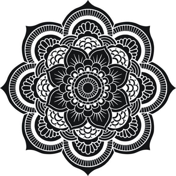 Flor de la vida geometría sagrada Mandala por CreativeStencils