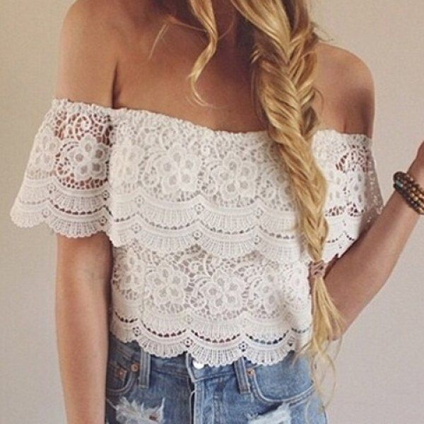 Lace Boho Crop Top