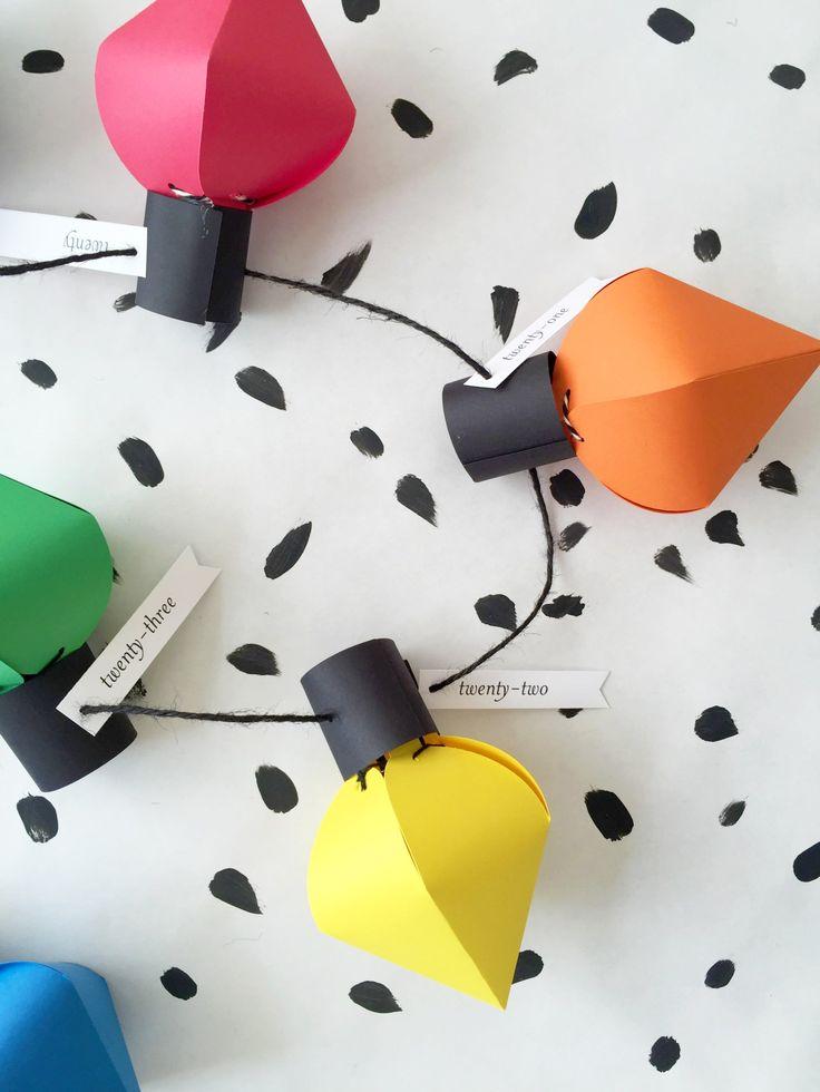 DIY Christmas bulb advent calendar                                                                                                                                                                                 More