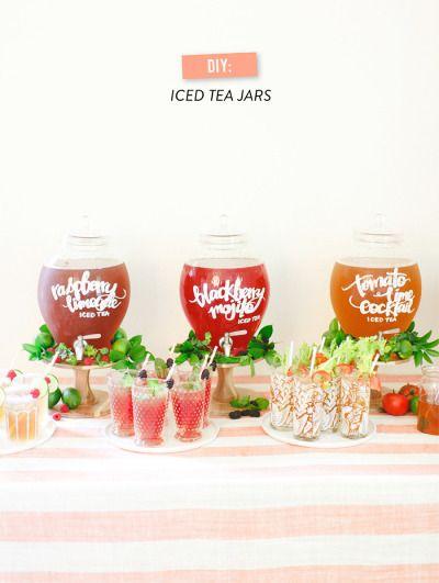 Tevana Iced tea + a giveaway! http://www.stylemepretty.com/2014/06/17/teavana-iced-tea-bar-giveaway/ | Photography: http://rutheileenphotography.com/