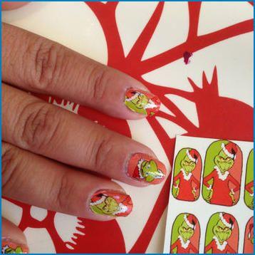 grinch holiday nail art ideen 20192020  grinch nägel