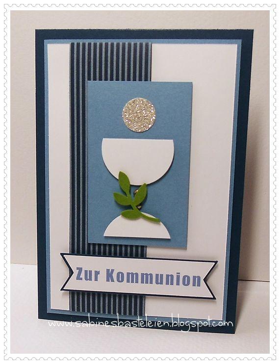 Sabines Basteleien Kommunionkarte