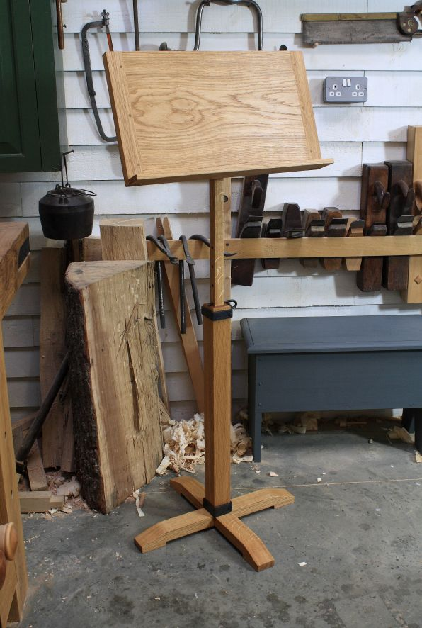 Hand made Oak Music Stand