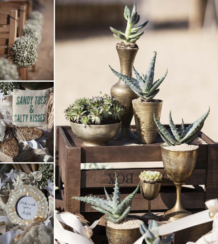Its all about boho chic!Wild flowers, cactus, lace, pearls...just  few of the decoration details!